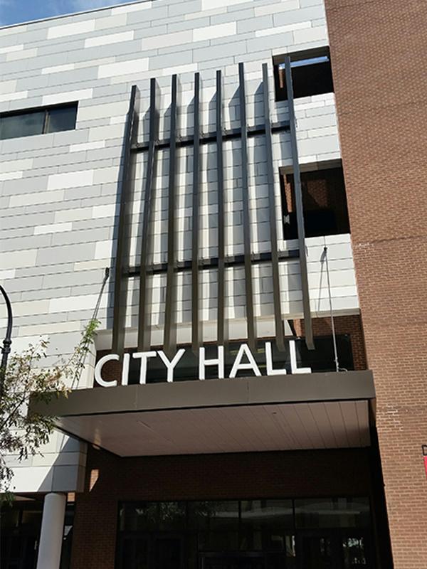 durham city hall entrance canopy