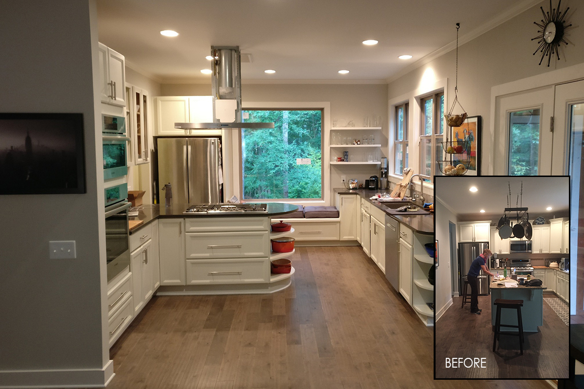 before-and-after kitchen renovation