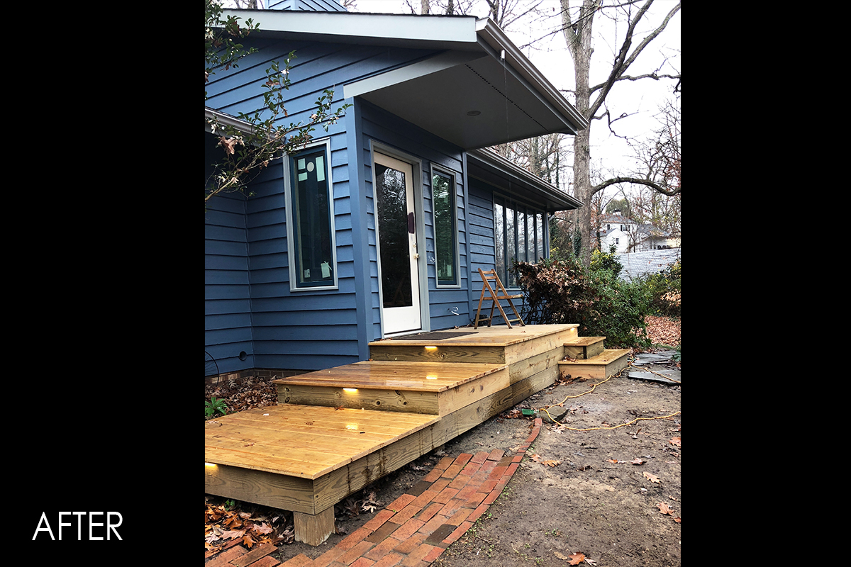 new front deck and stairs